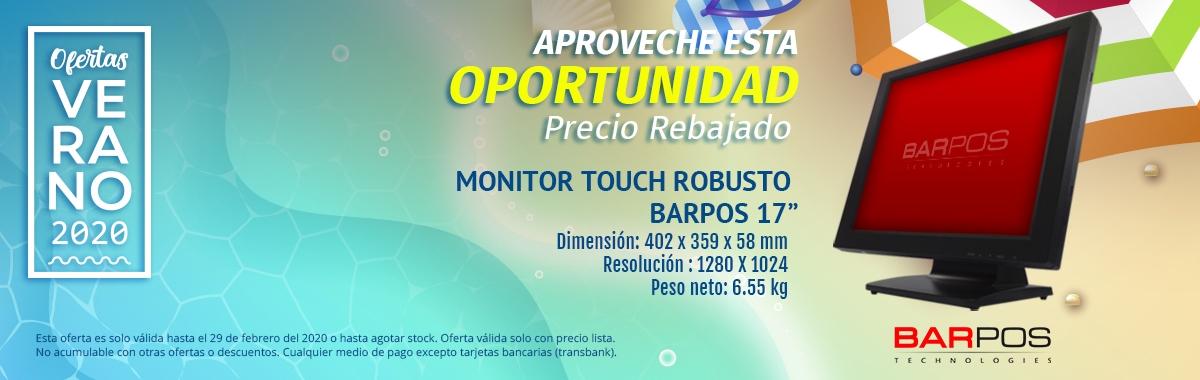 "Monitor Touch Robusto Barpos 17"""