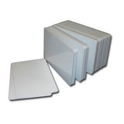 Tarjetas blancas de PVC