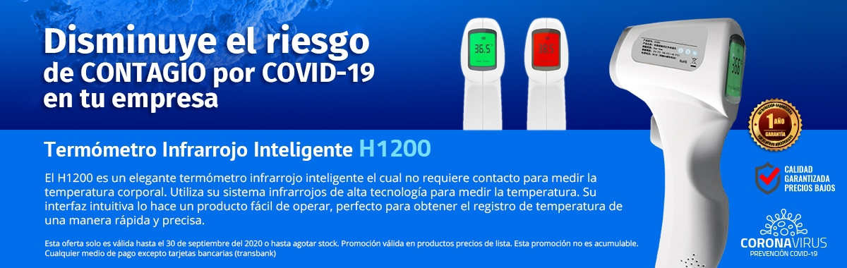 Termómetro Infrarrojo Inteligente H1200